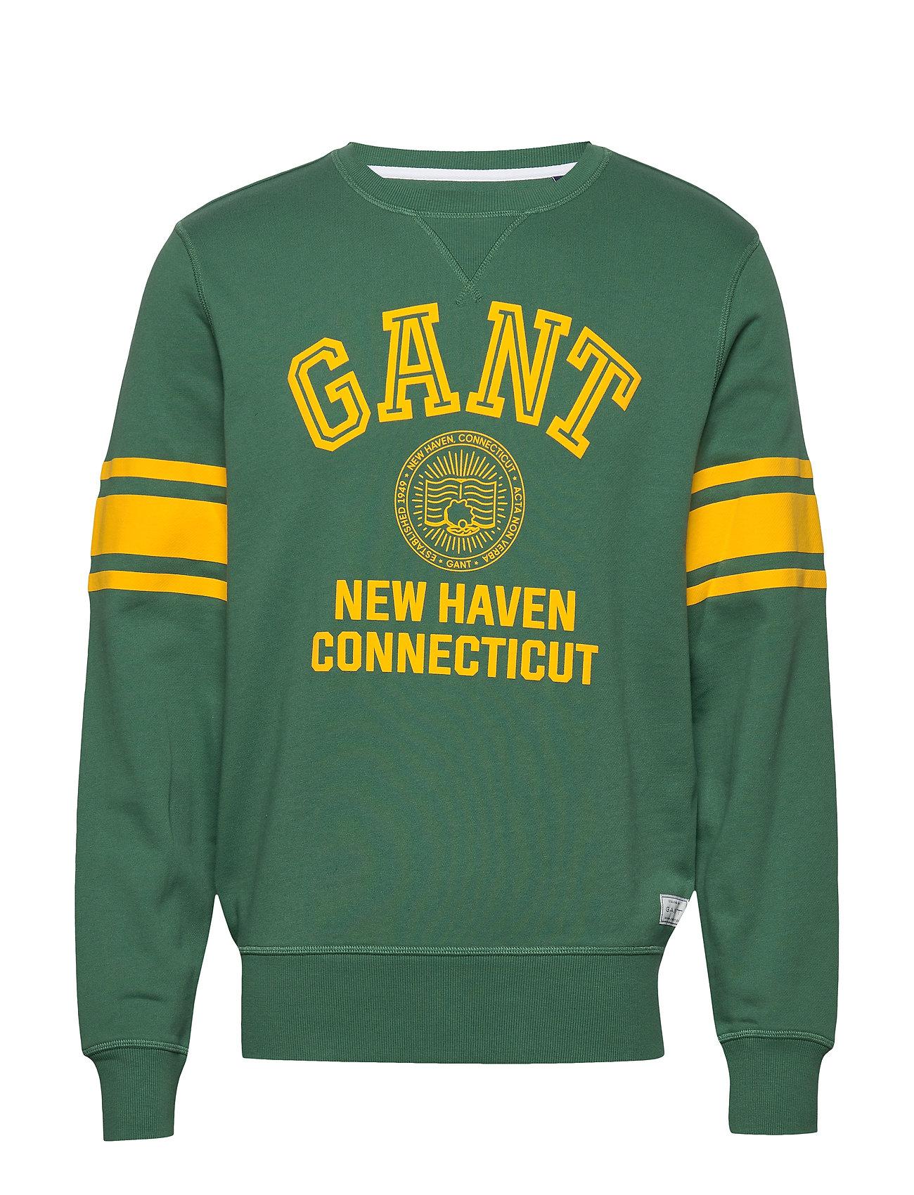 Gant D1. GANT VARSITY C-NECK SWEAT - LEAF GREEN