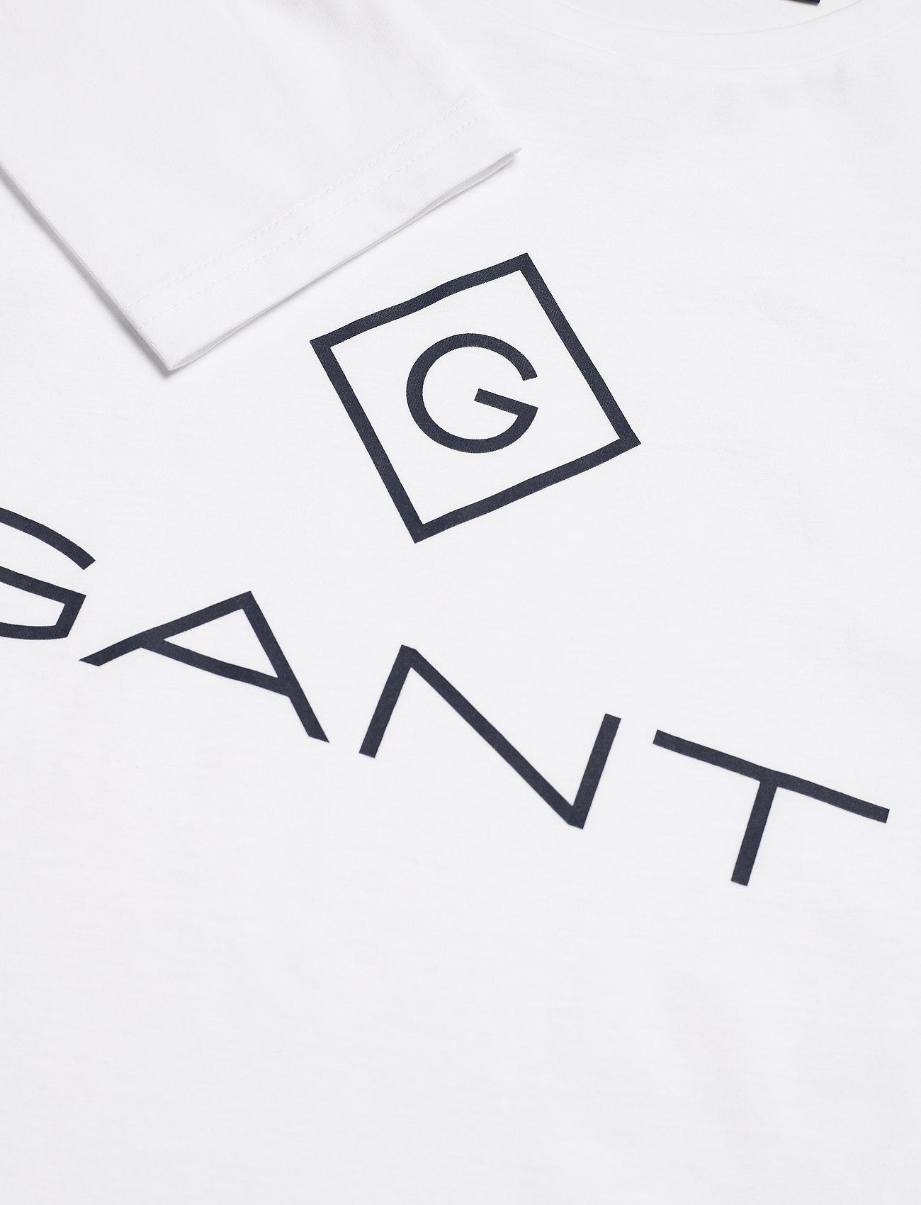 GANT GANT LOCK UP LS T-SHIRT - T-skjorter WHITE - Menn Klær