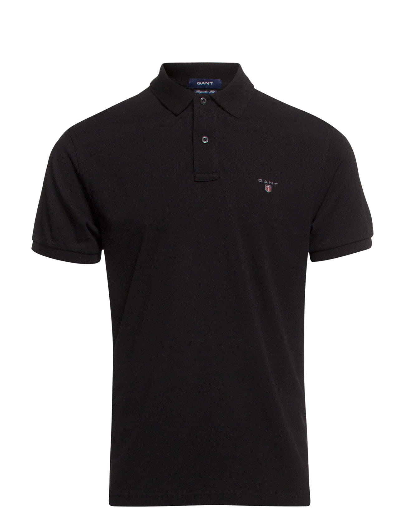 GANT THE ORIGINAL PIQUE SS RUGGER - BLACK
