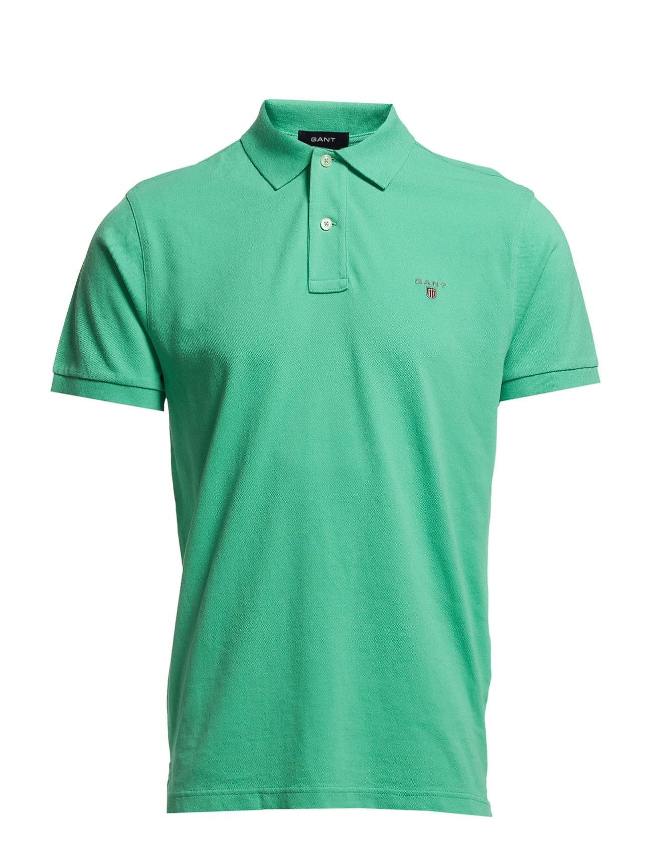 Gant THE ORIGINAL PIQUE SS RUGGER - EMERALD GREEN