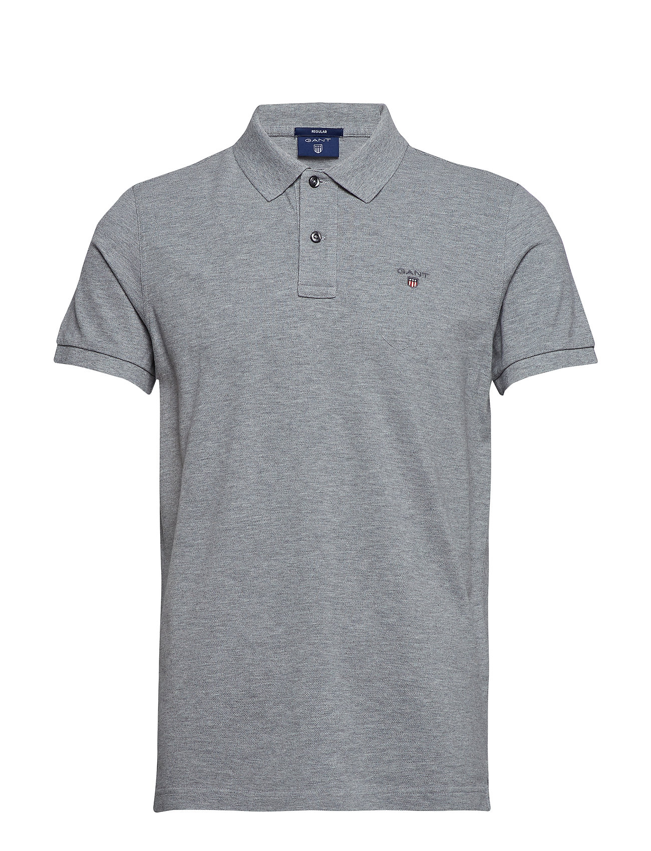 Gant THE ORIGINAL PIQUE SS RUGGER - GREY MELANGE