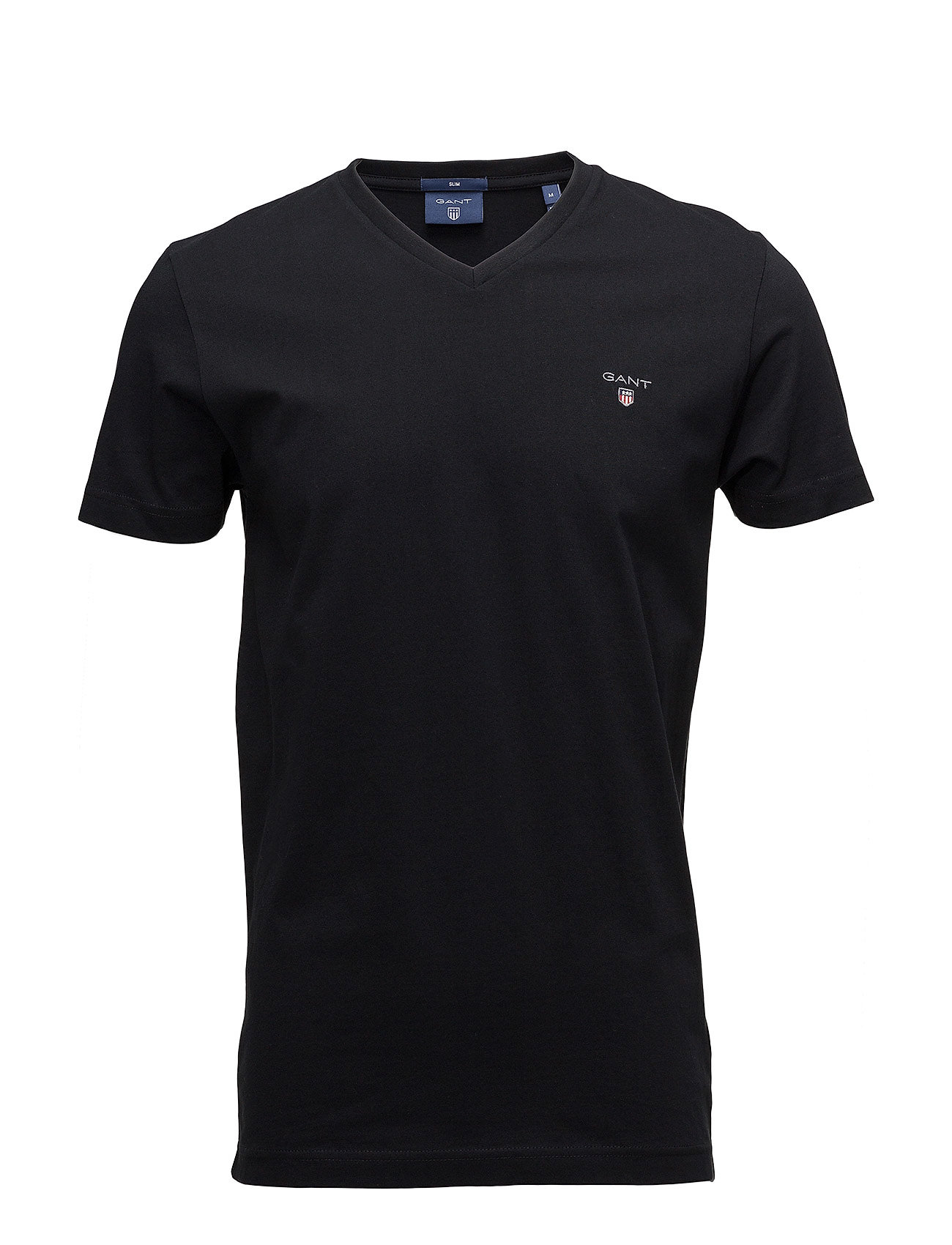 Gant THE ORIGINAL SLIM V-NECK T-SHIRT - BLACK