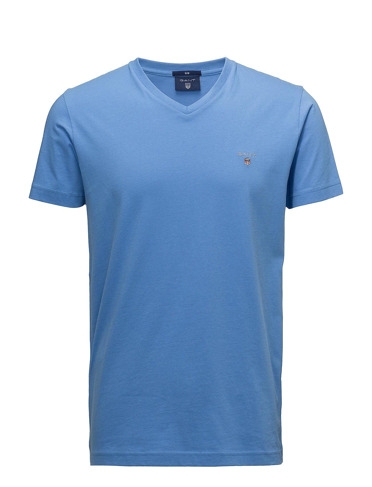 Gant THE ORIGINAL SLIM V-NECK T-SHIRT - PACIFIC BLUE