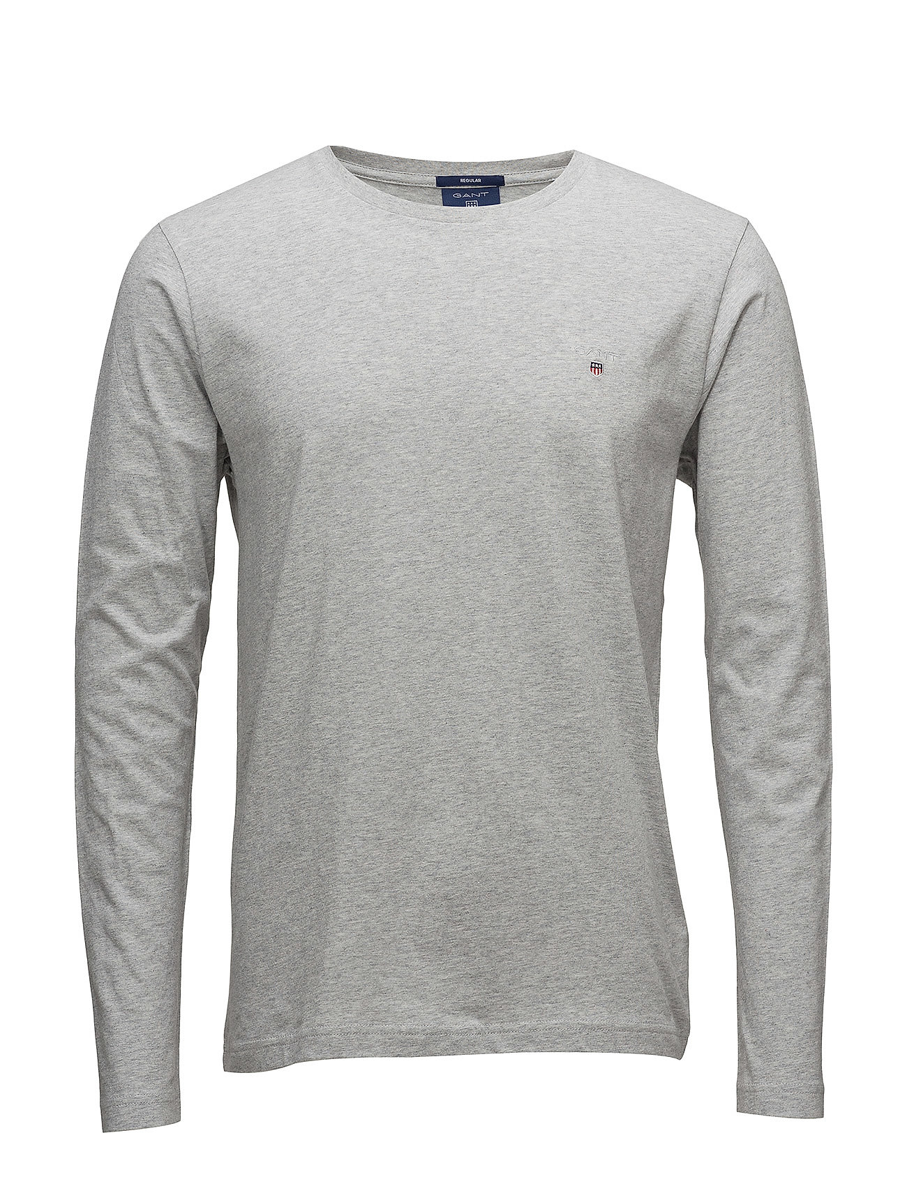 GANT THE ORIGINAL LS T-SHIRT - LIGHT GREY MELANGE