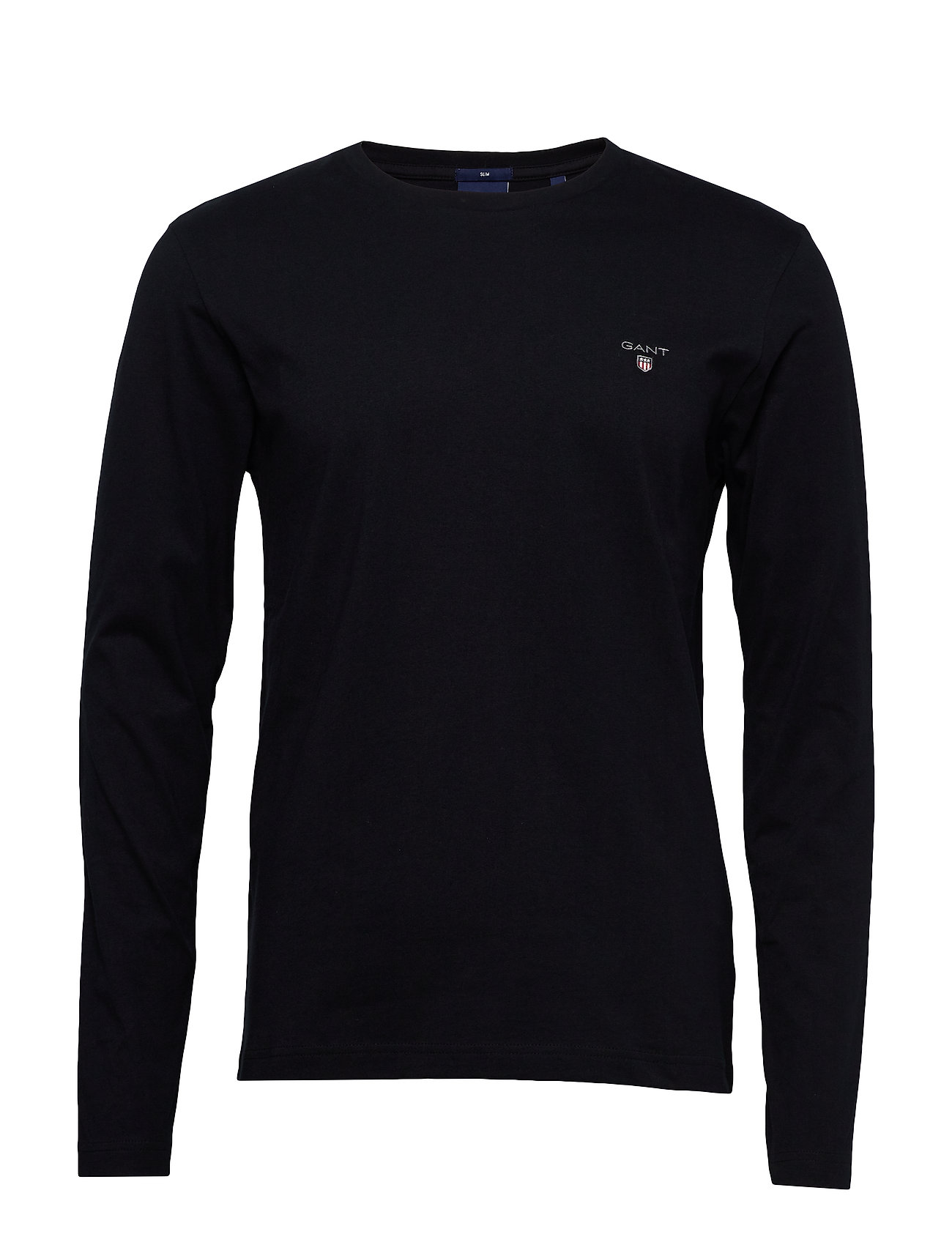 Gant THE ORIGINAL SLIM LS T-SHIRT - BLACK