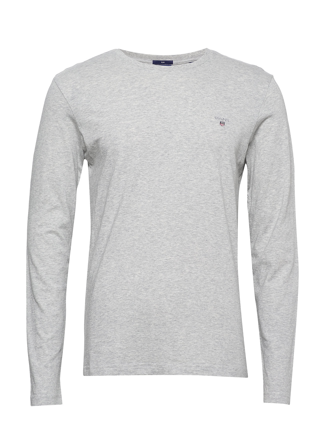 Gant THE ORIGINAL SLIM LS T-SHIRT - LIGHT GREY MELANGE