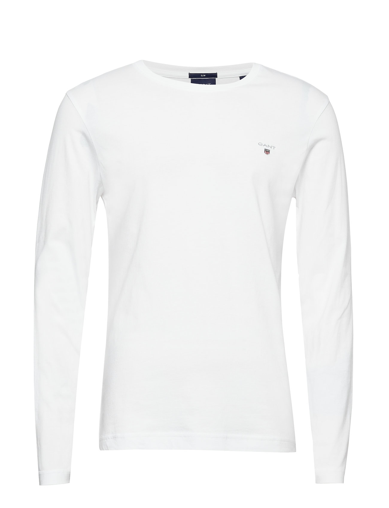 Gant THE ORIGINAL SLIM LS T-SHIRT - WHITE