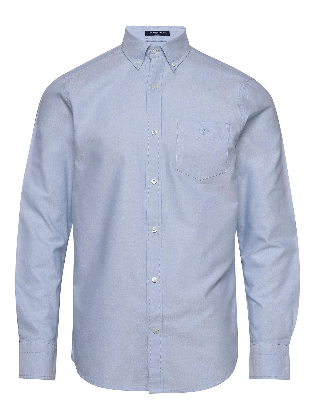 Gant D2. TP GBP OXFORD CHECK REG LBD - CAPRI BLUE