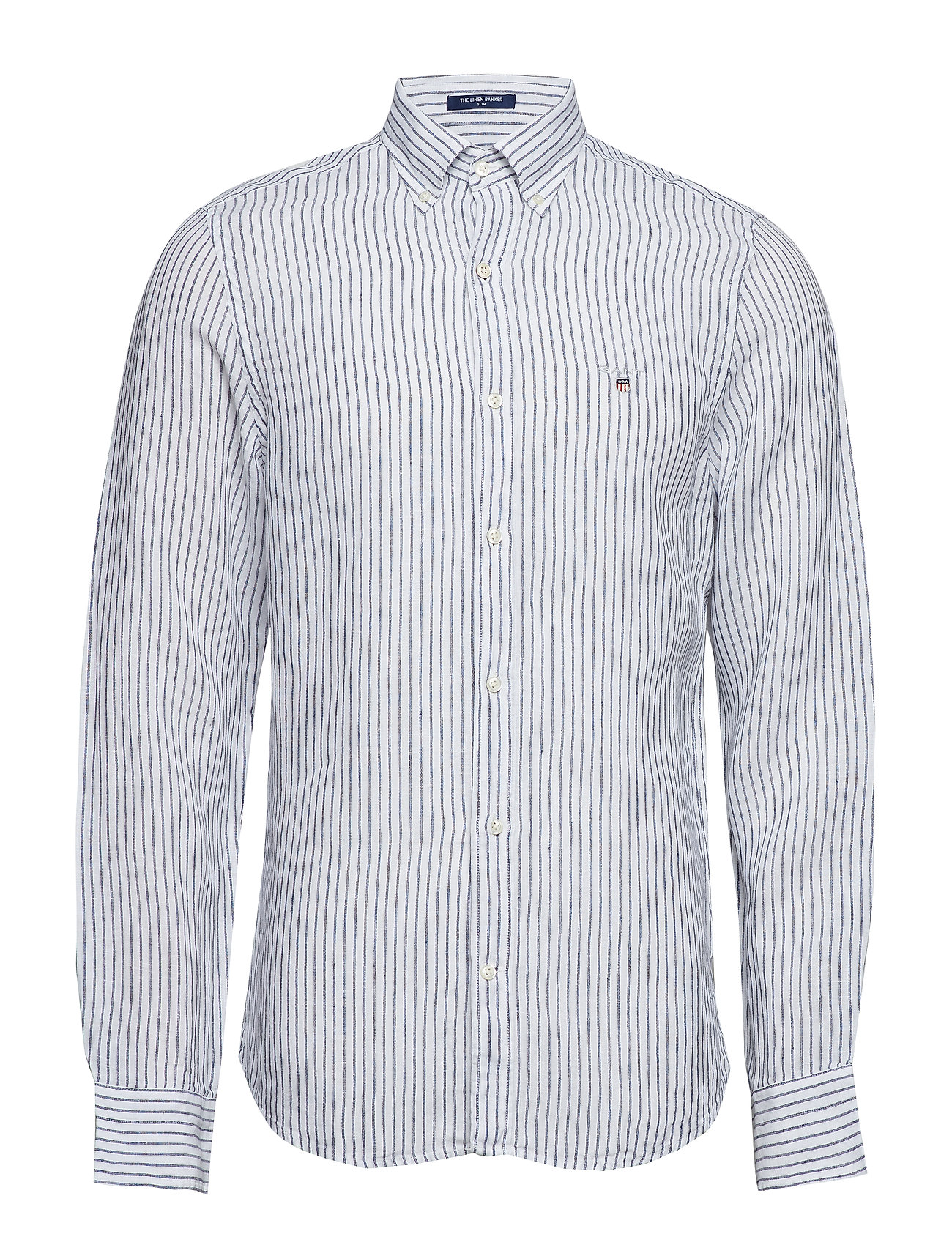 GANT THE LINEN BANKER SLIM BD - WHITE