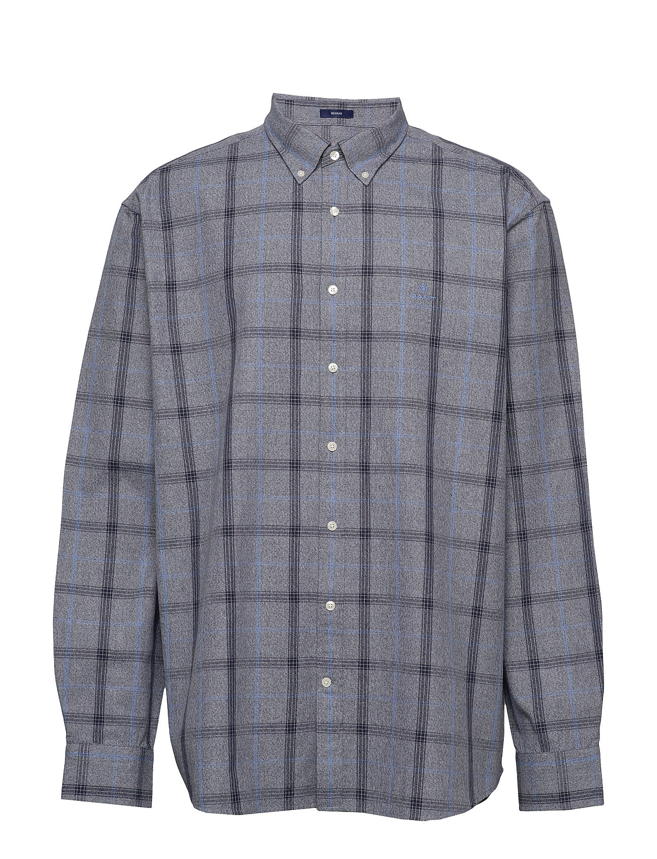 Gant D1. HEATHER OXFORD  PLAID REG BD - MARINE