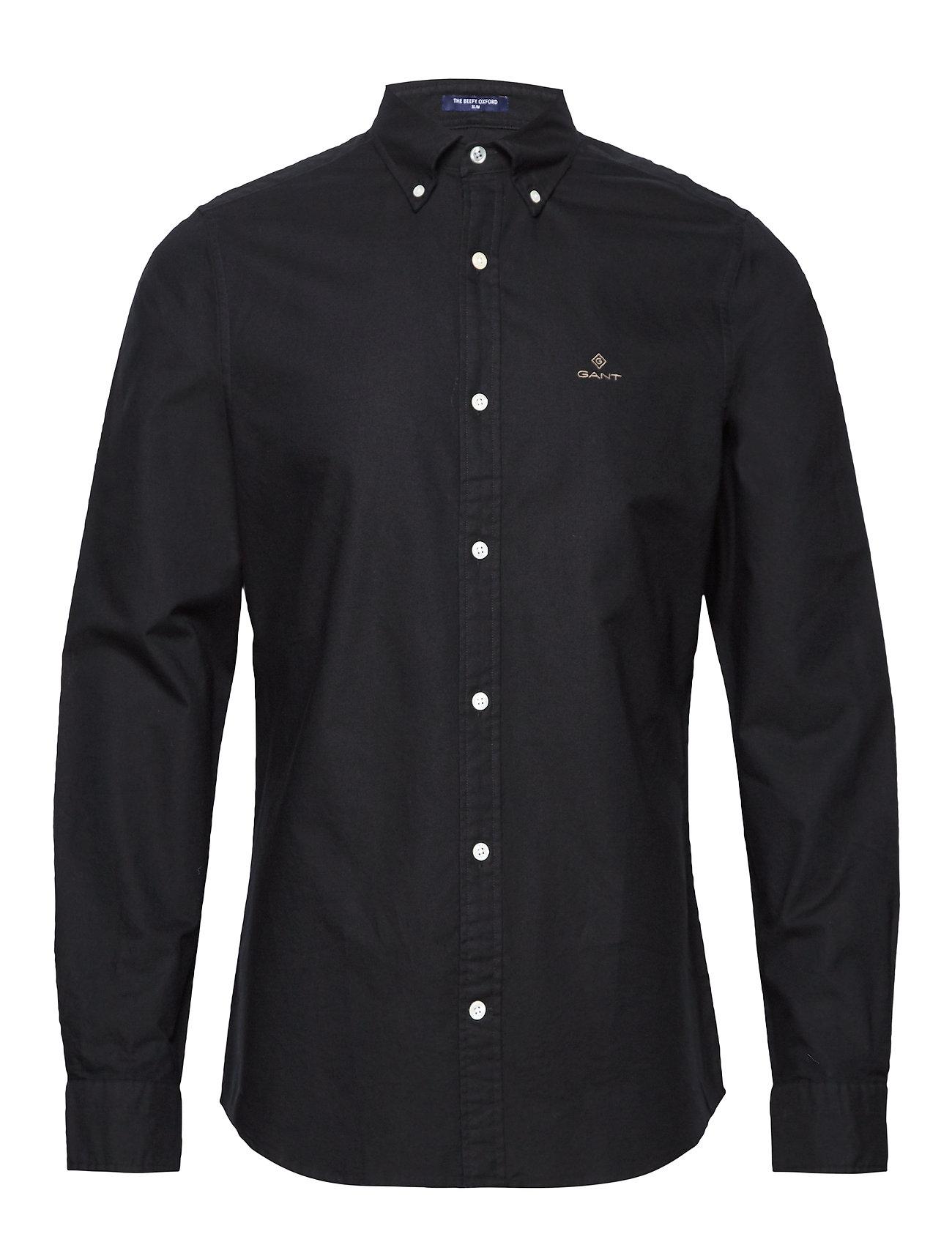 Gant THE BEEFY OXFORD SHIRT SLIM BD - BLACK