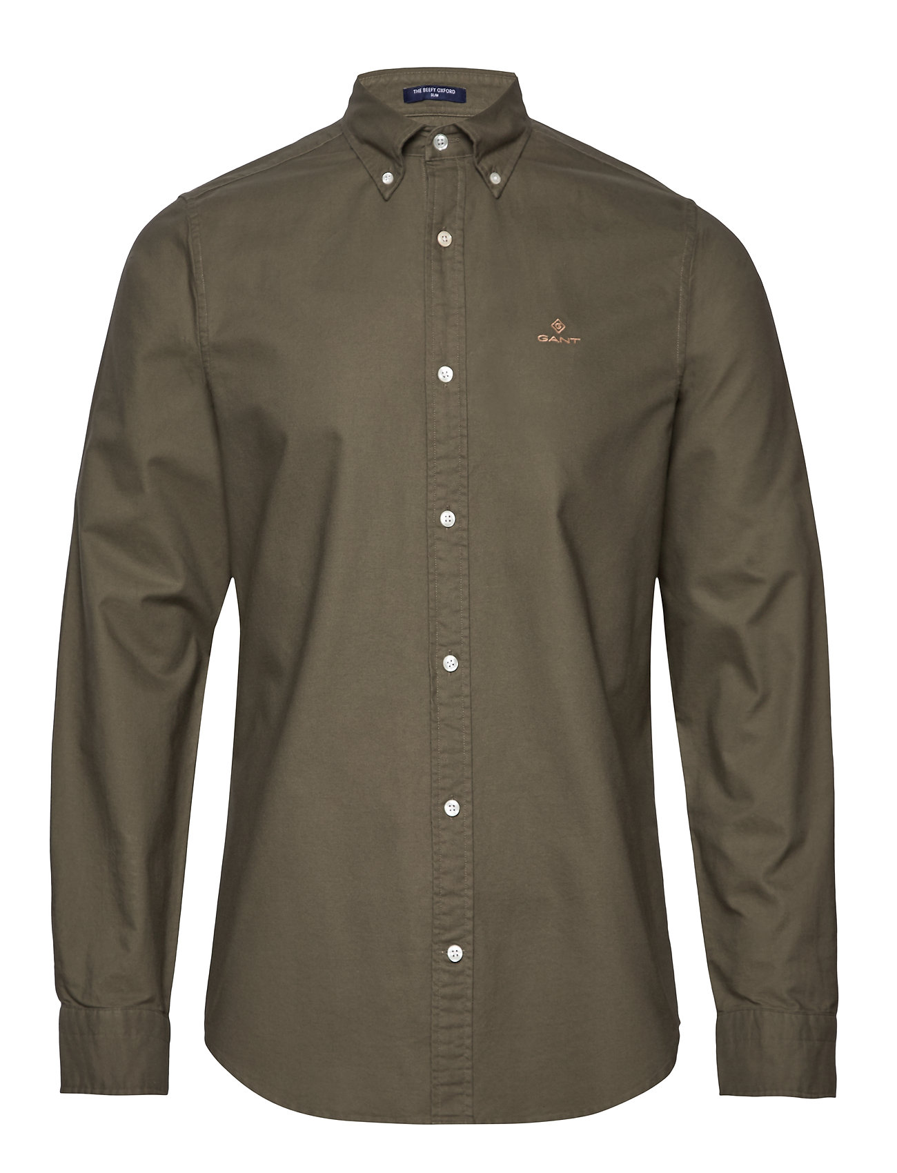 Gant THE BEEFY OXFORD SHIRT SLIM BD - SEA TURTLE
