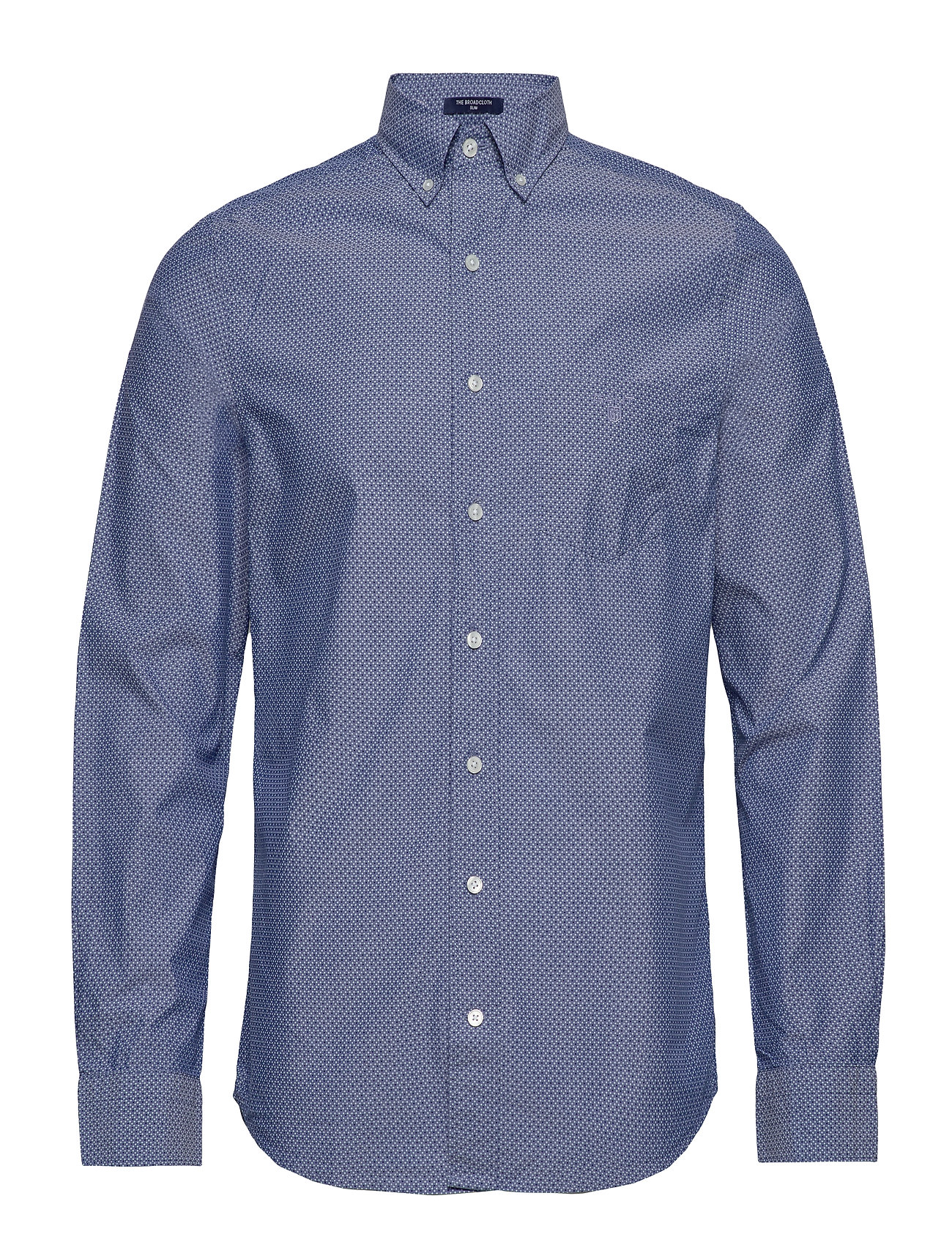Gant O1. THE BROADCLOTH DOT SLIM BD - COLLEGE BLUE
