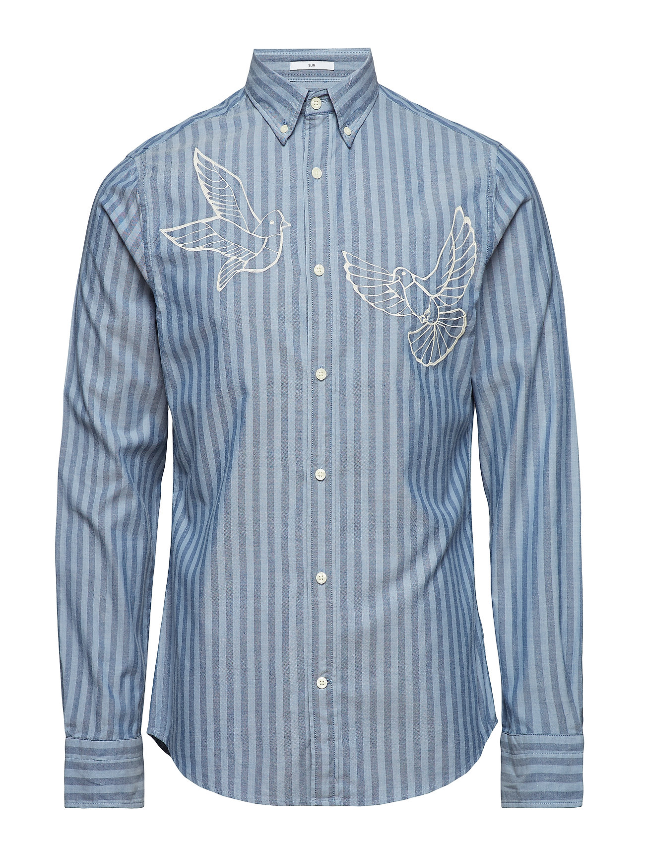 Gant R1. THE EMBROIDERED DOVES SLIM BD - SALTY SEA