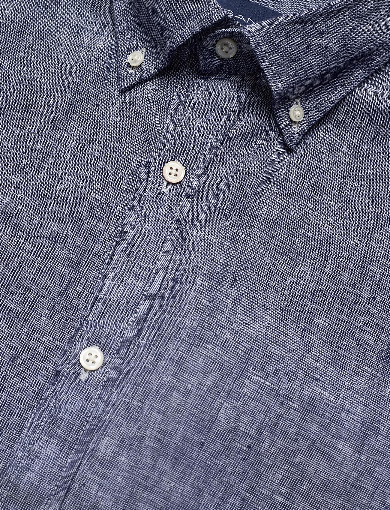 The Linen Shirt Reg Ss  Bd (Persian Blue) (900 kr) - GANT