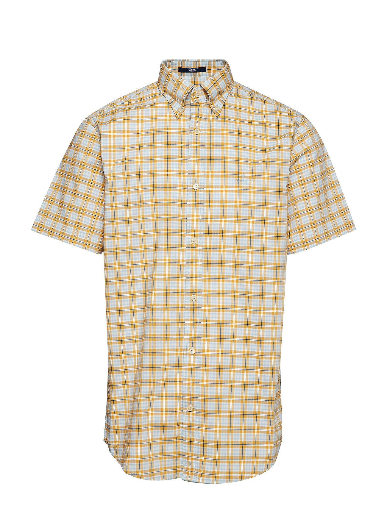 Gant D1. TP BROADCLOTH PLAID REG BD SS - HONEY GOLD