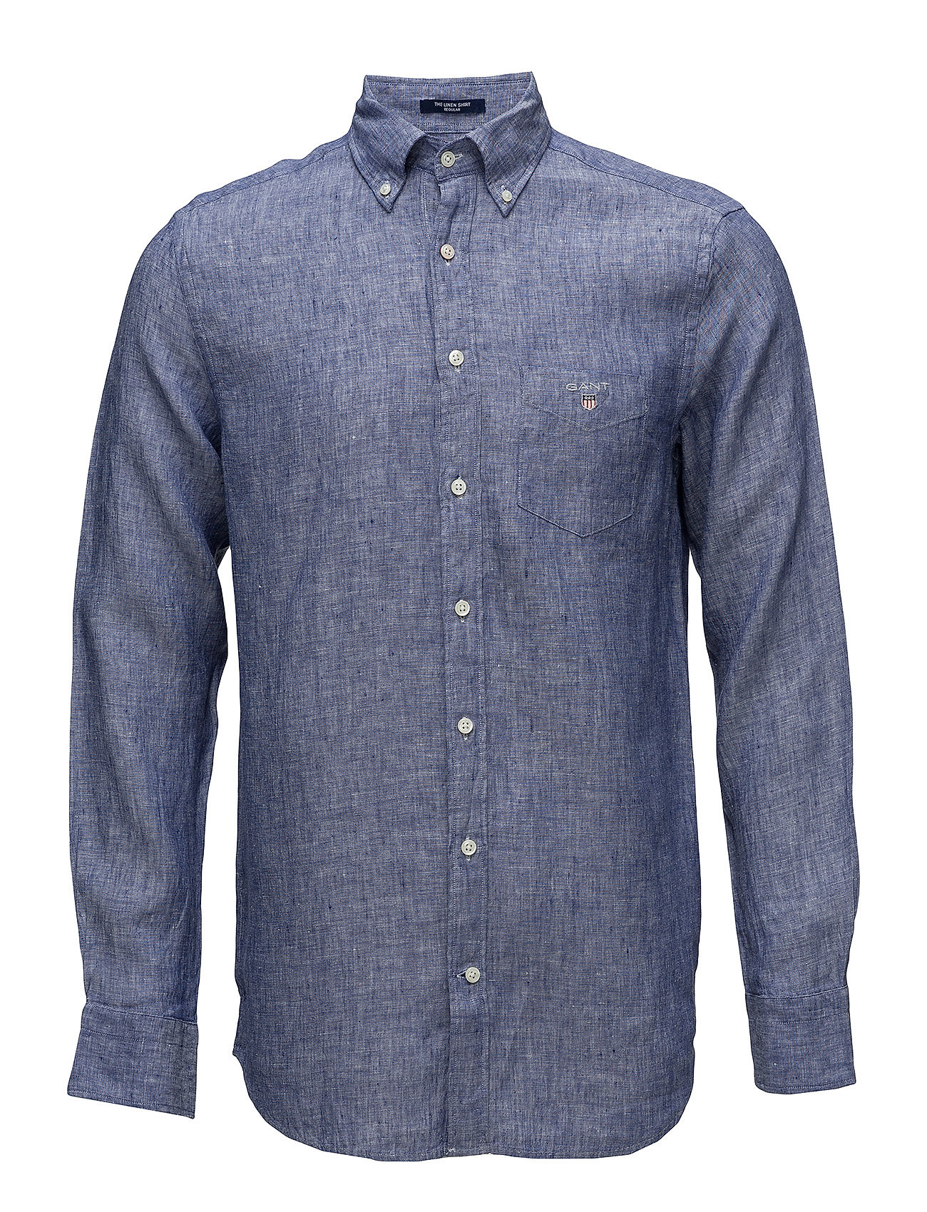 Gant THE LINEN SHIRT REG BD - COLLEGE BLUE