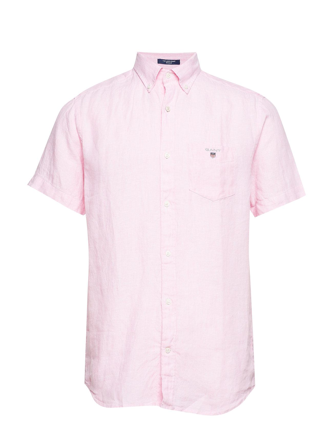 Bdbright Linen PinkGant Shirt The Ss Reg ulc513TFKJ