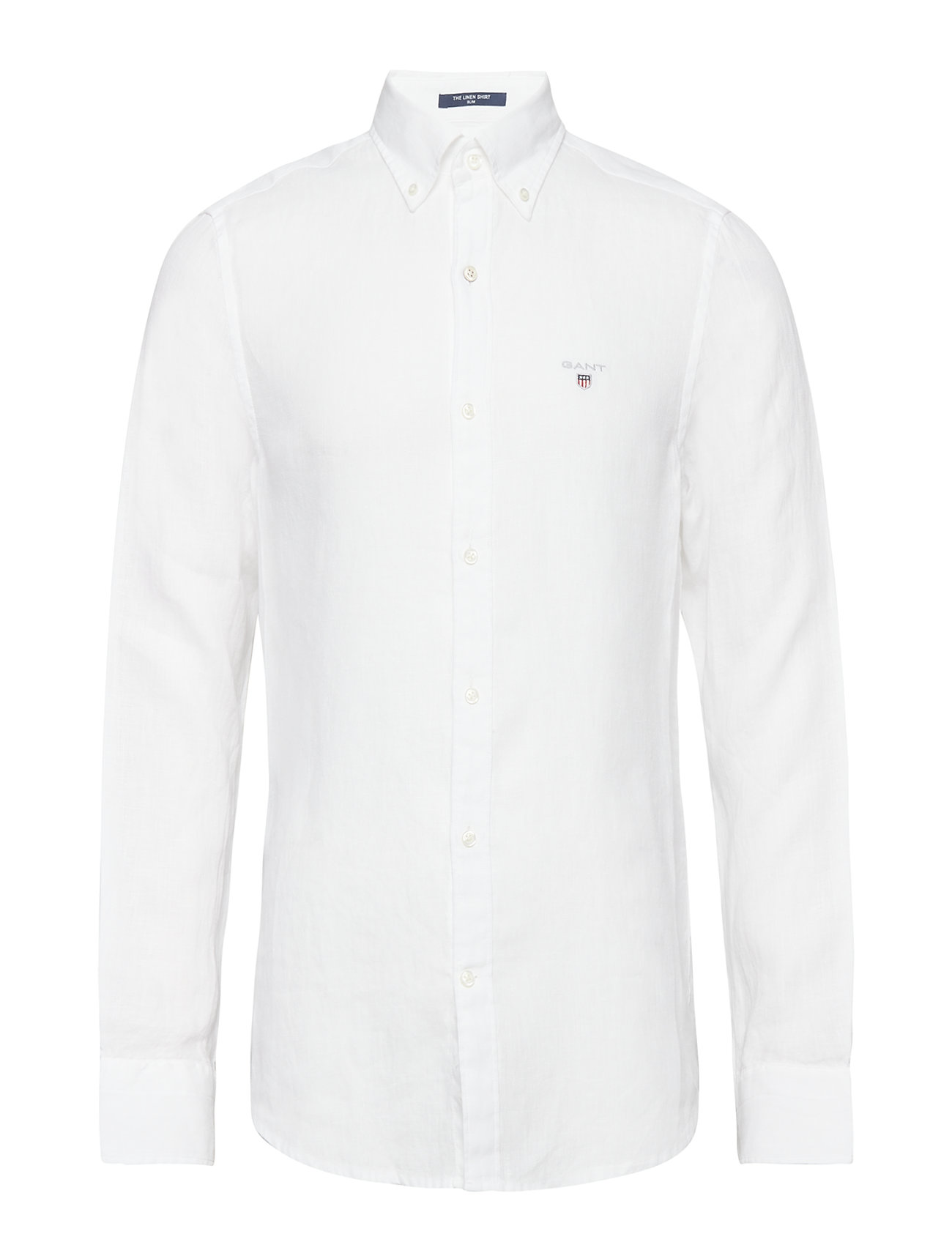 GANT THE LINEN SHIRT SLIM BD - WHITE