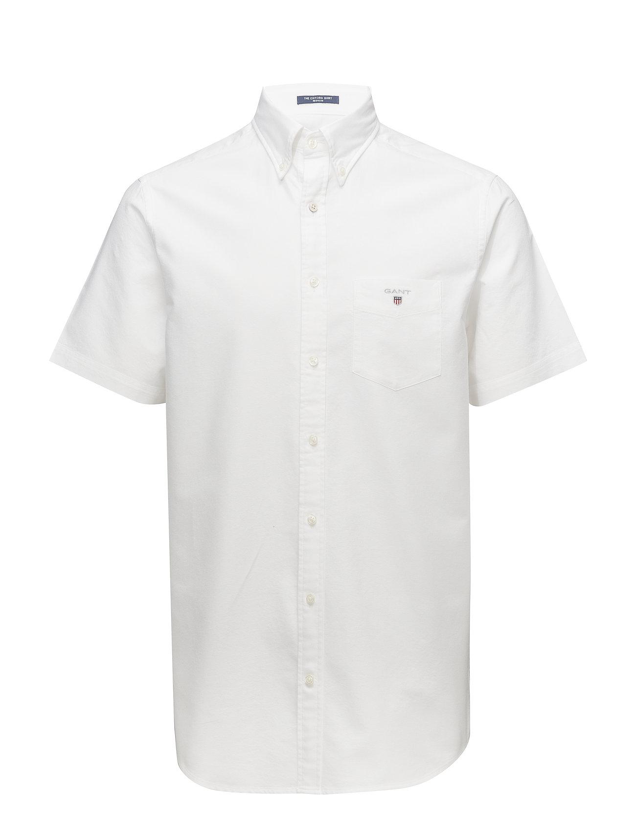 Gant THE OXFORD SHIRT REG SS BD - WHITE