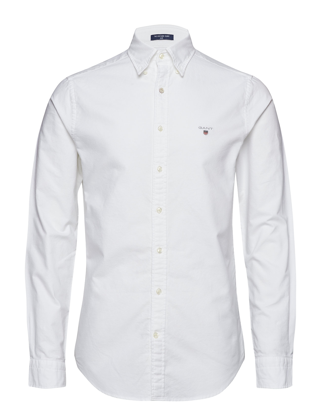 Gant SLIM OXFORD SHIRT BD - WHITE
