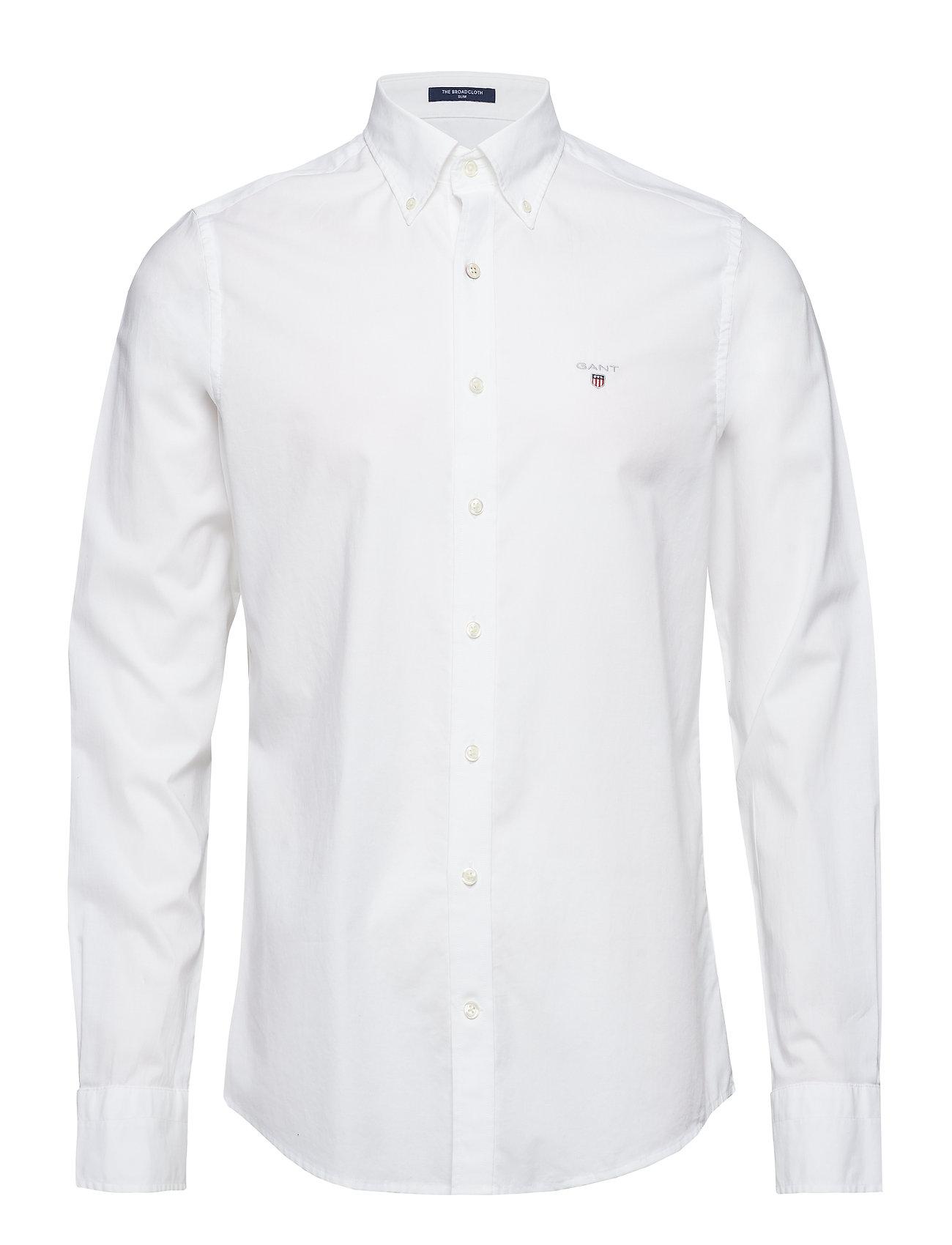 Gant THE BROADCLOTH SLIM BD - WHITE