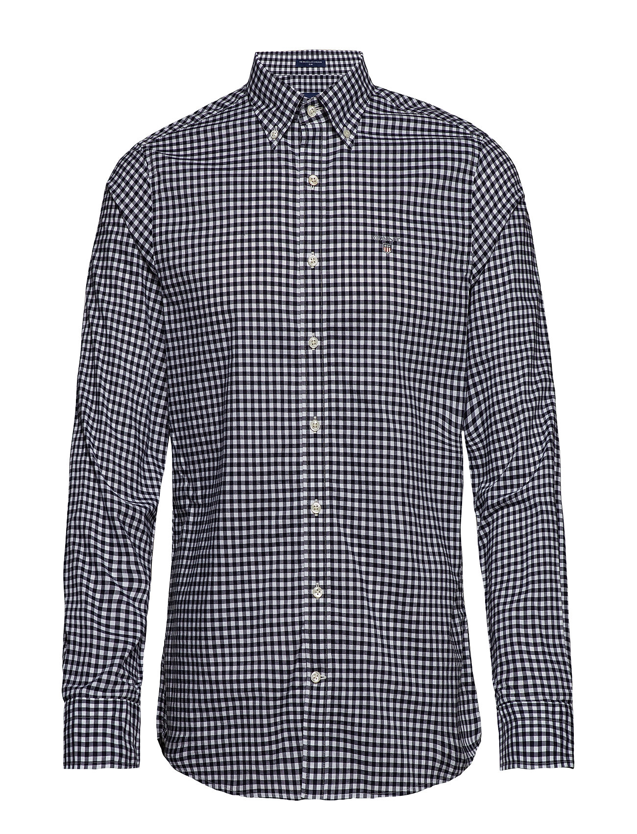 Gant THE BROADCLOTH GINGHAM SLIM BD - MARINE