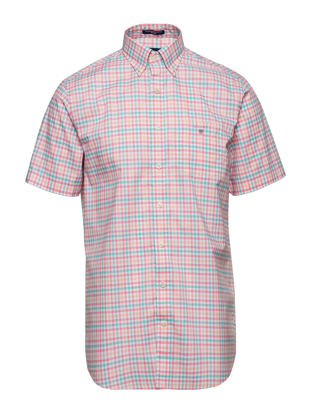 Gant THE B-CLOTH 3COL GINGHAM REG SS BD - PINK ROSE