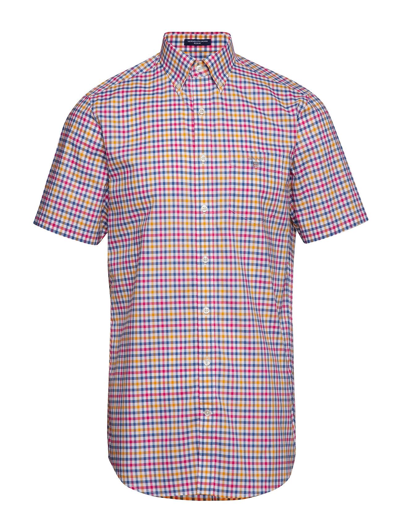 Gant THE B-CLOTH 3COL GINGHAM REG SS BD - POSEIDON BLUE