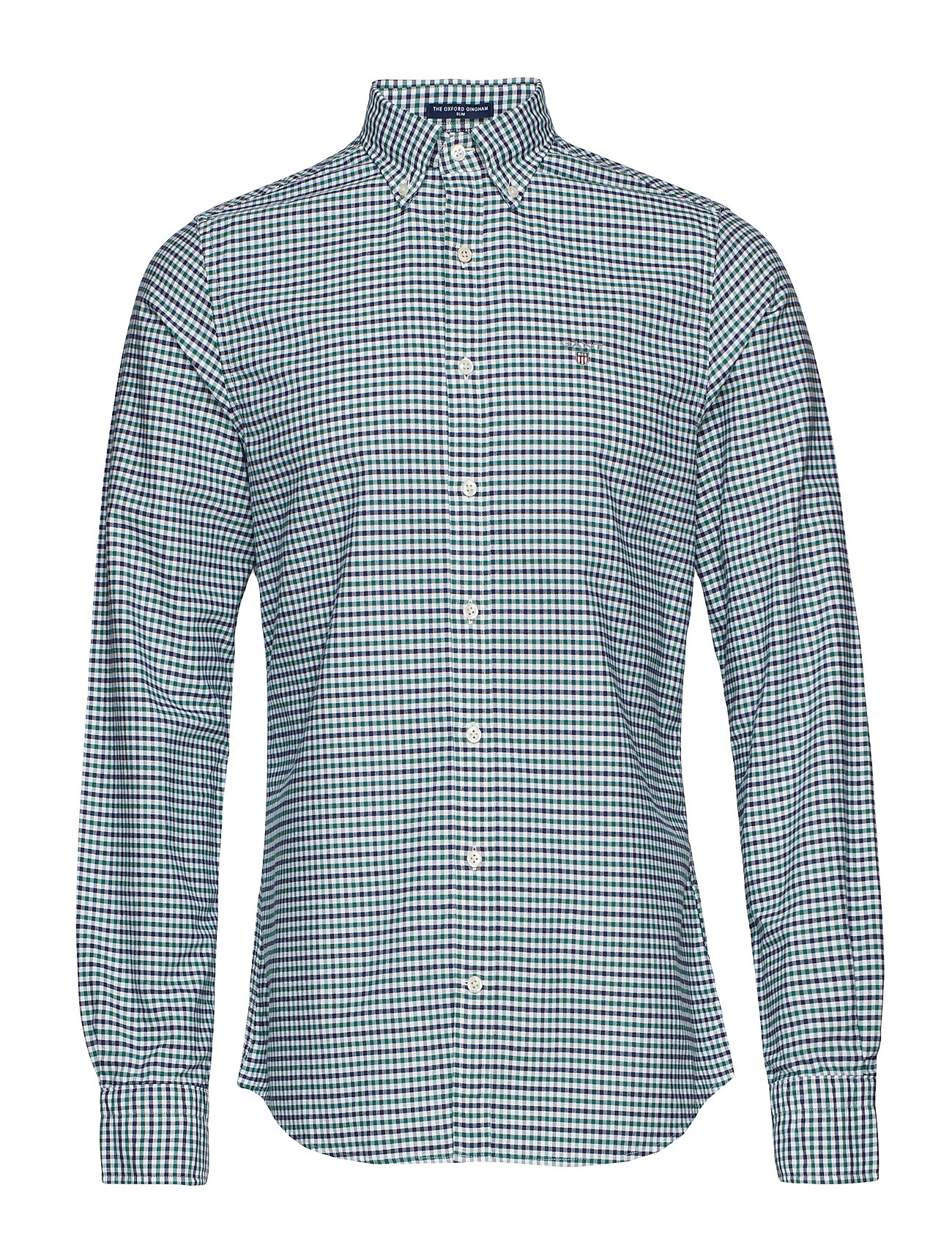Gant THE OXFORD 3 COL GINGHAM SLIM BD - IVY GREEN