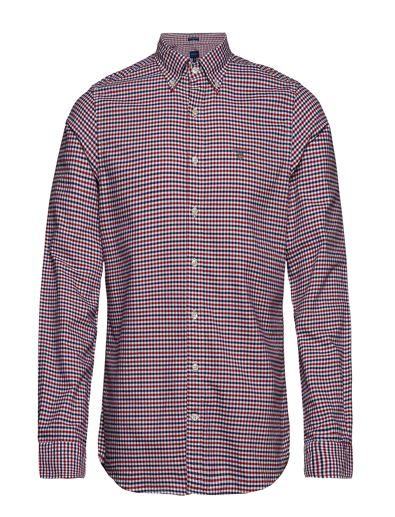 Gant THE OXFORD 3 COL GINGHAM SLIM BD - MAHOGNY RED