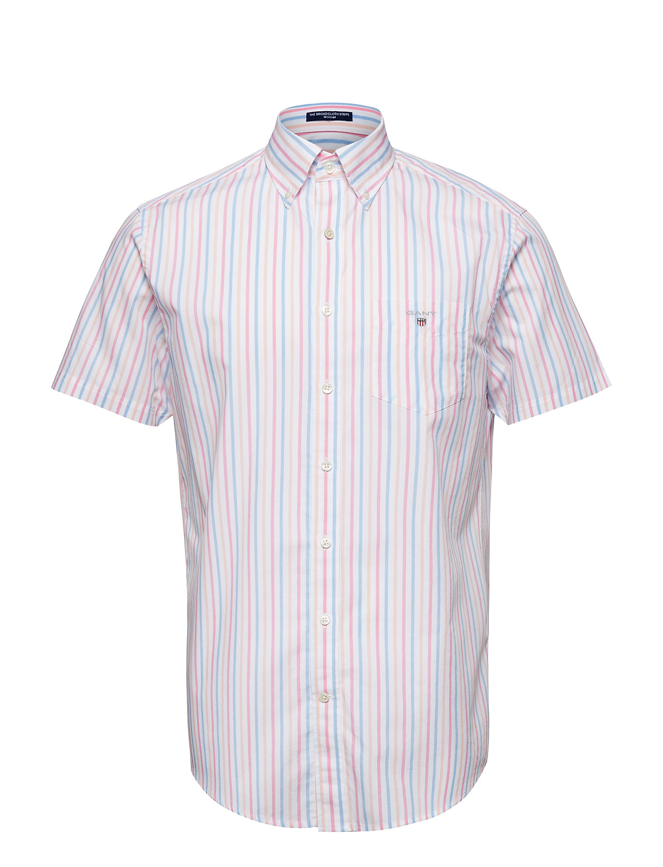 Gant THE BROADCL 3 COL STRIPE REG SS BD - PINK ROSE