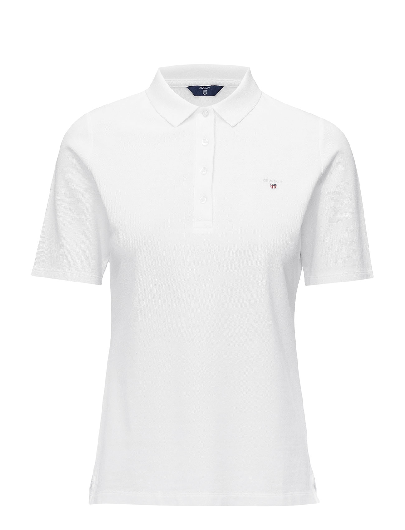 GANT THE ORIGINAL PIQUE LSS - WHITE