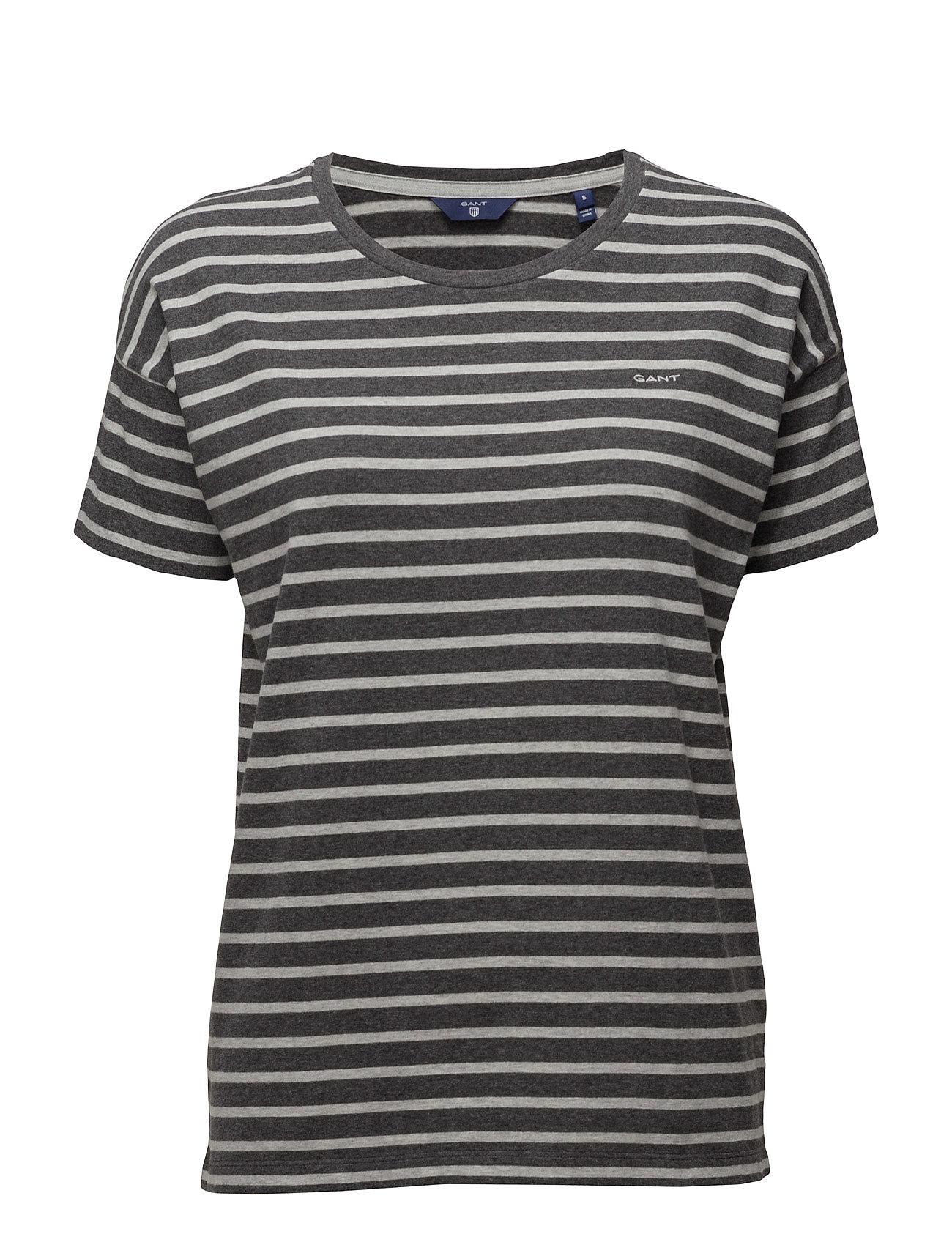 O. Dropped Shoulder Striped T-Shirt