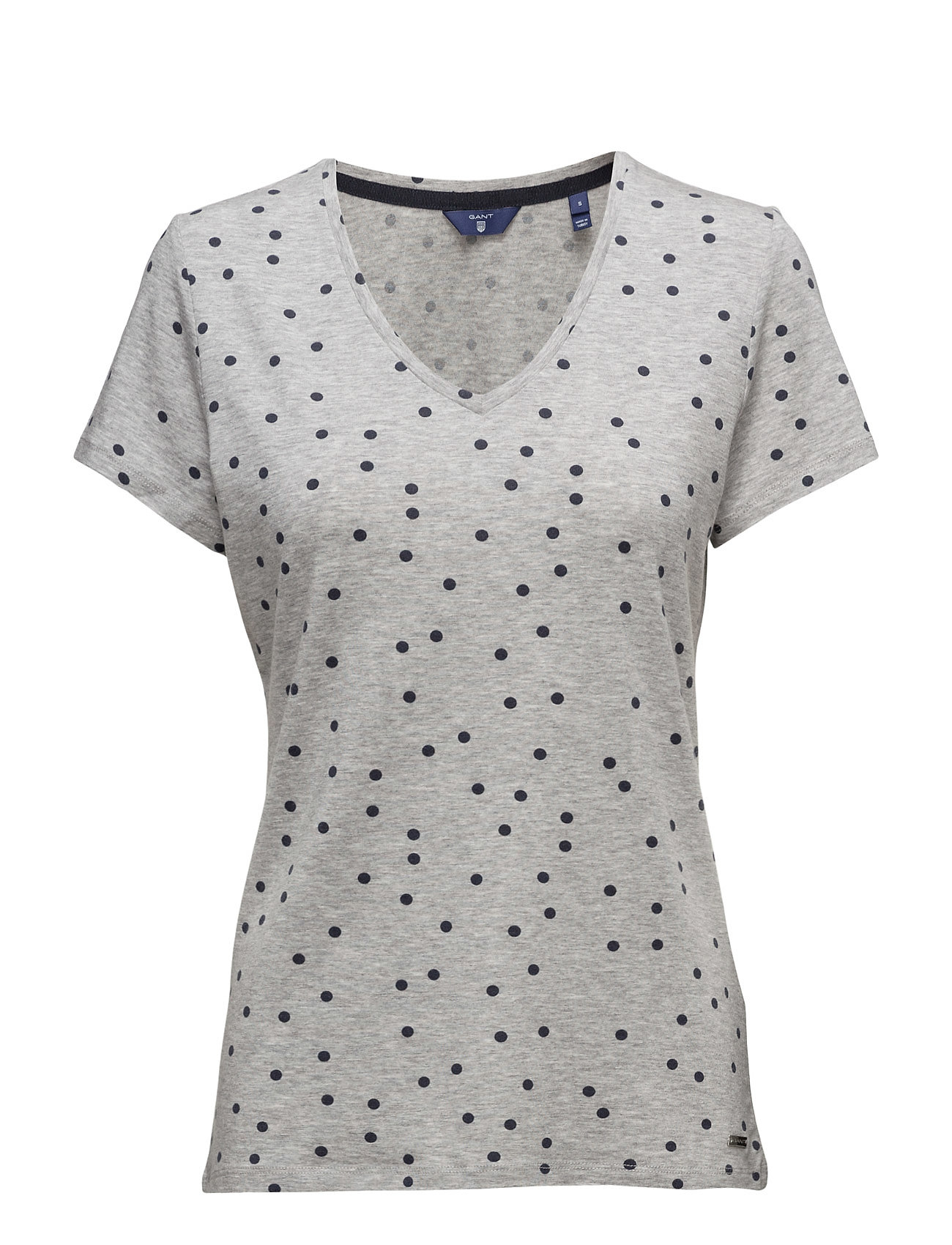 Dotted Fluid V-neck T-shirt - Light Grey Melange GANT Manchester Great Sale For Sale mrCaI9LAX