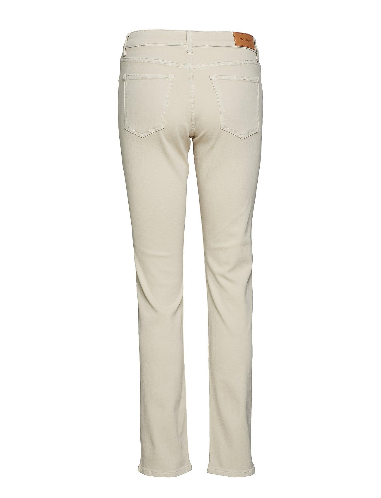GANT - SLIM TWILL JEANS - slim jeans - putty - 1