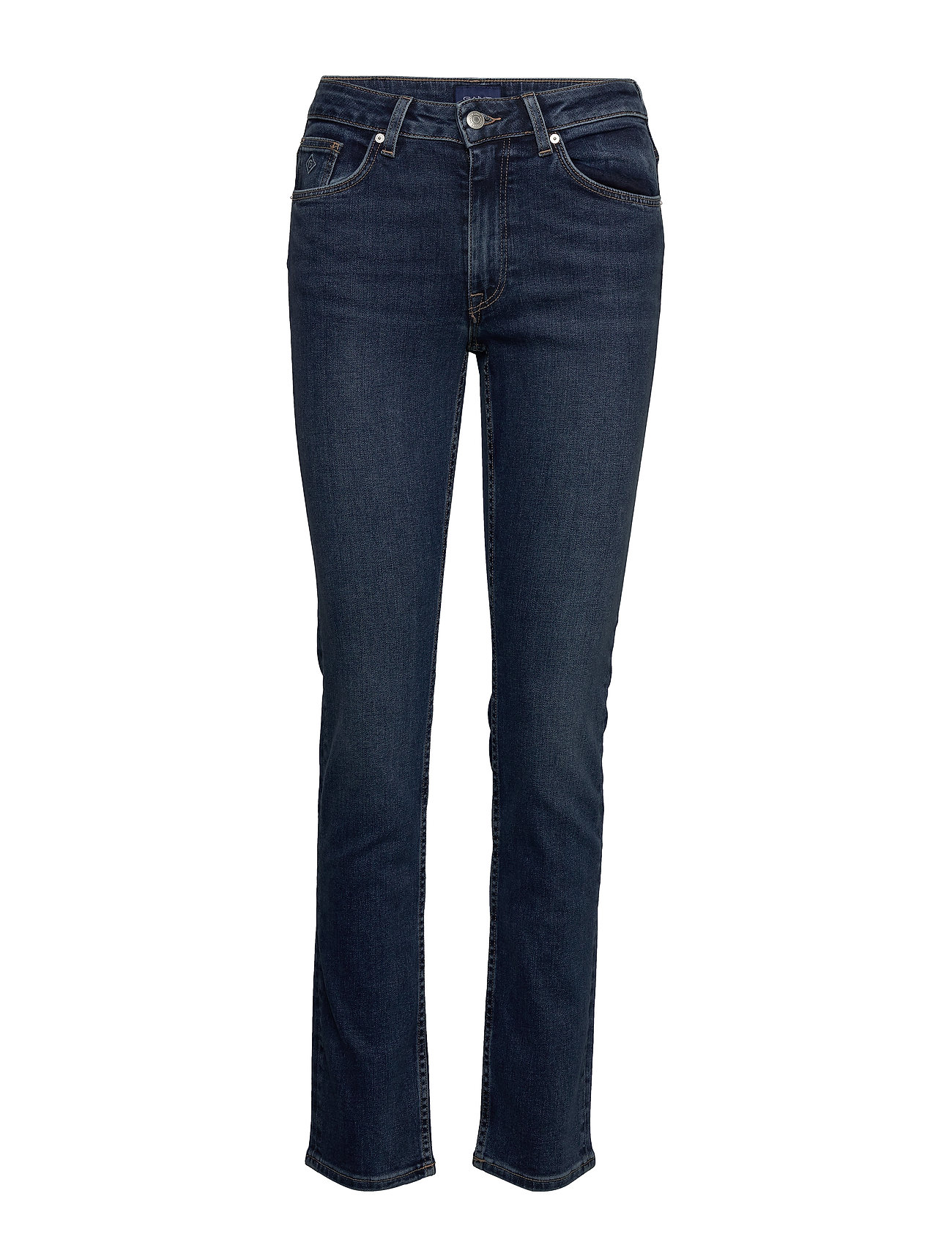 Gant SLIM SUPER STRETCH JEANS - DARK BLUE WORN IN
