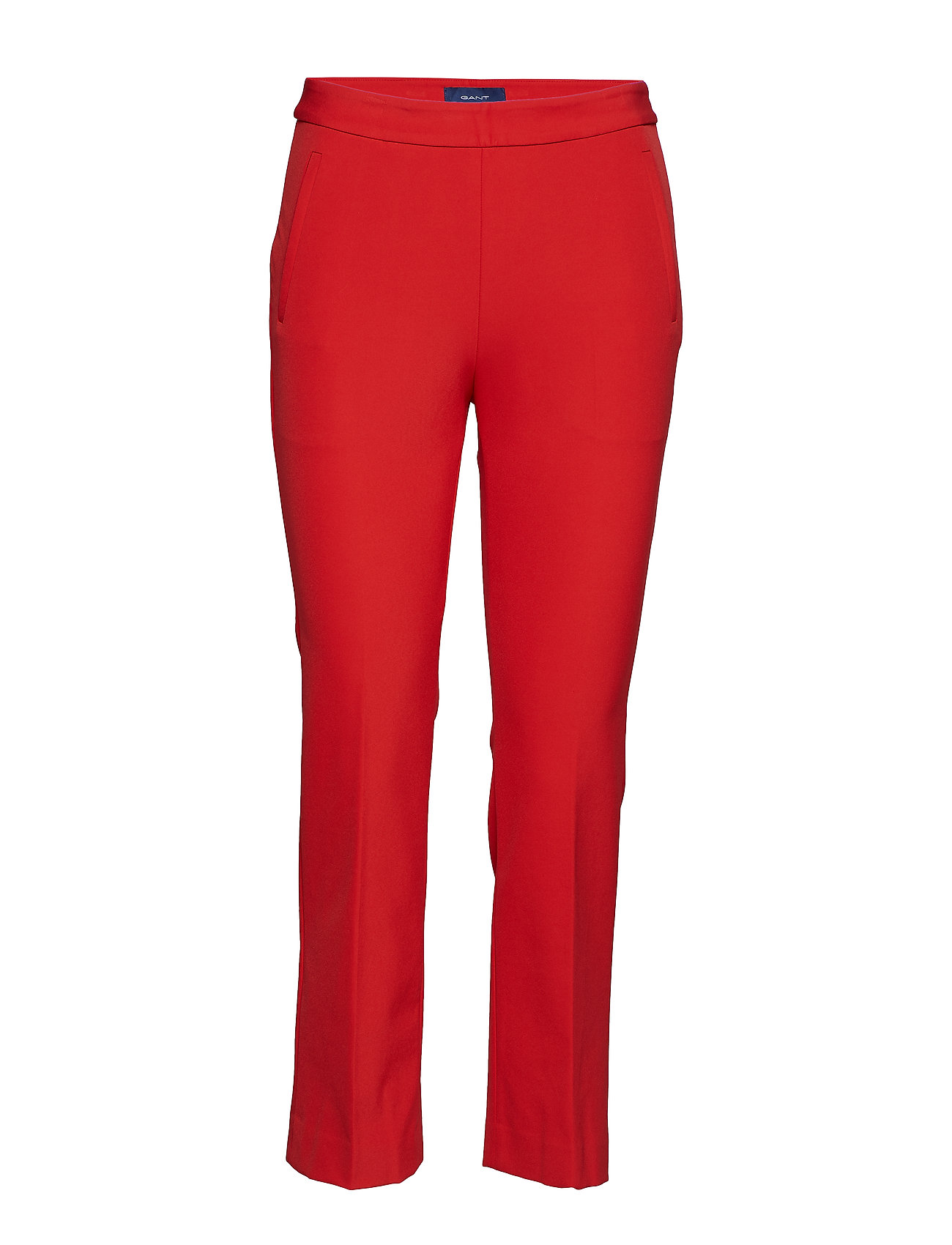 Image of O1. Straight Cropped Pant Smalle Bukser Skinny Pants Rød GANT (3105944061)