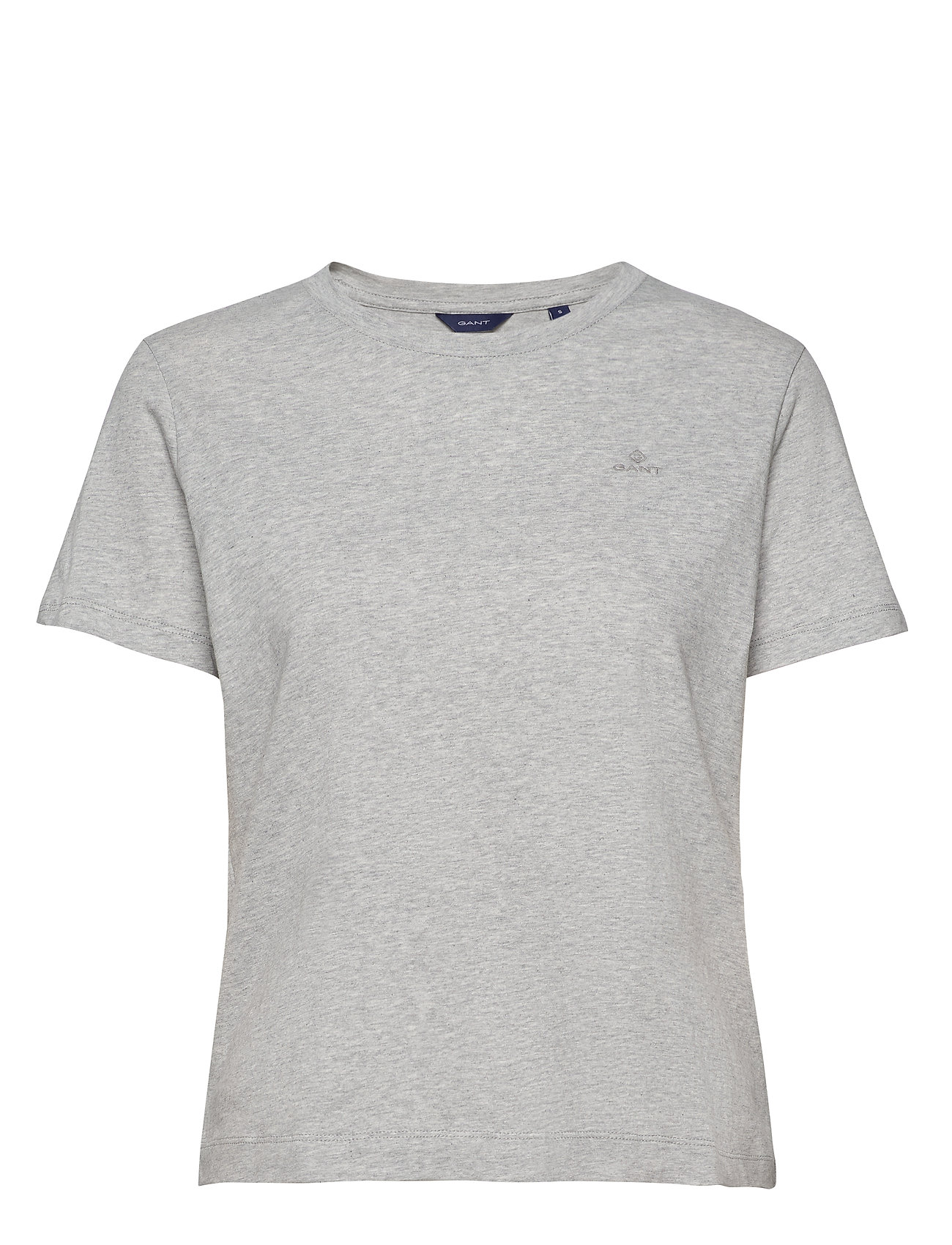 Gant THE ORIGINAL SS T-SHIRT - LIGHT GREY MELANGE