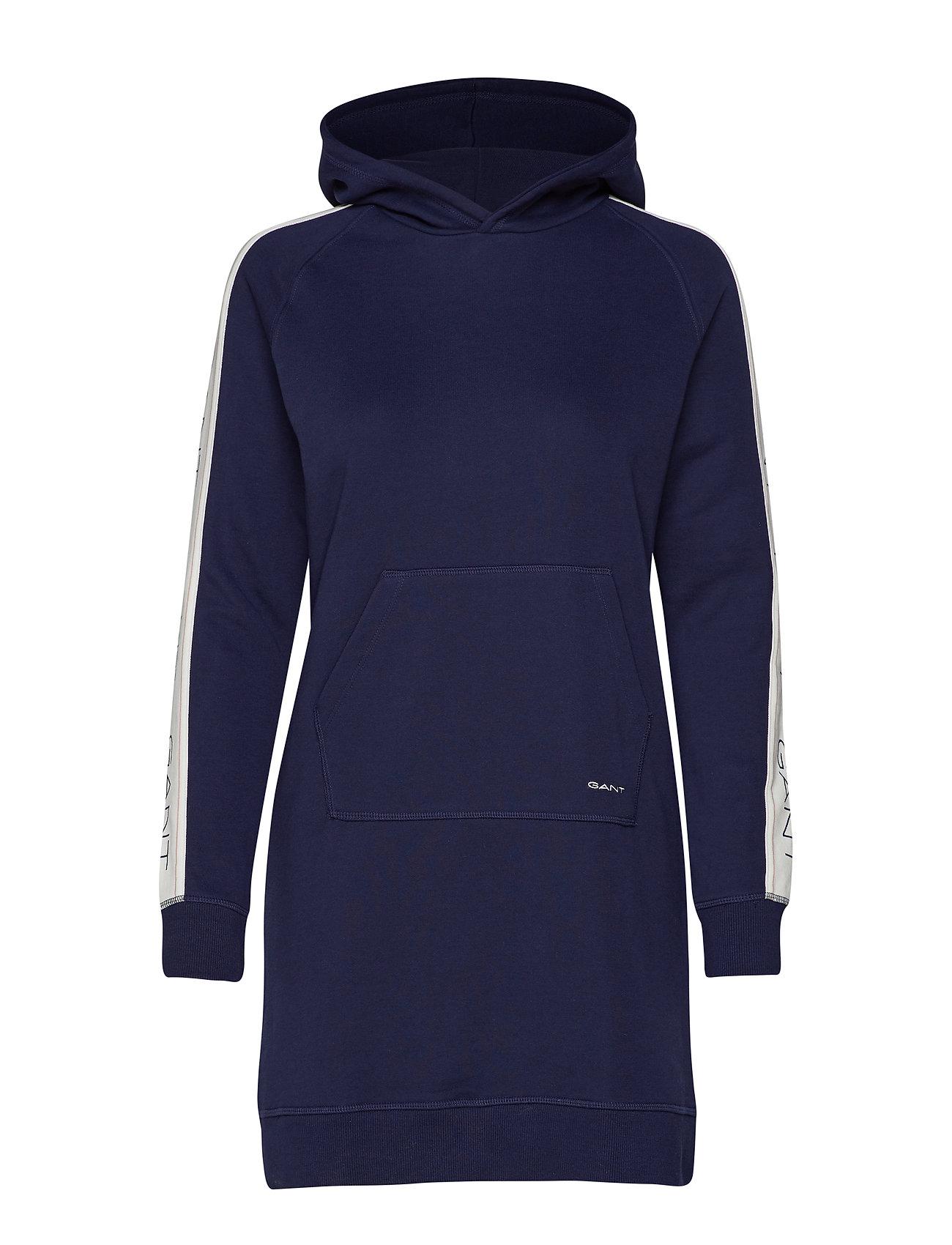 GANT D1.GANT ARCHIVE SWEAT HOODIE DRESS - EVENING BLUE