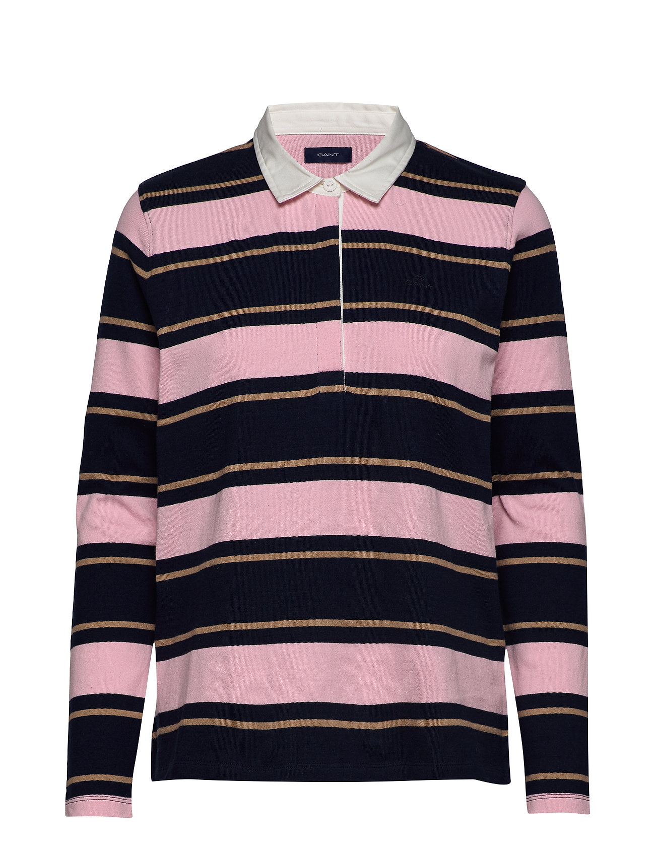 GANT D1. STRIPED  HEAVY RUGGER - PREPPY PINK