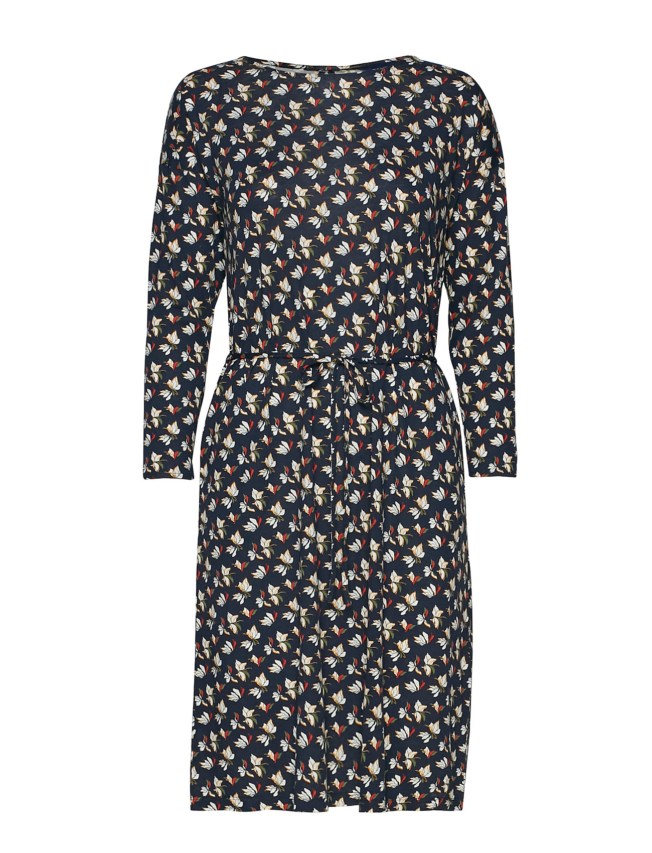 GANT D1. AOP JERSEY DRESS - EVENING BLUE