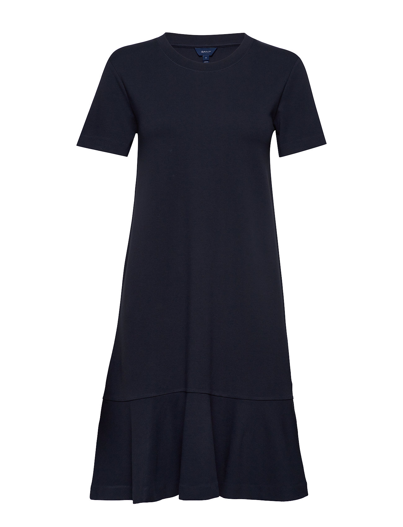 Gant D1. FLOUNCE DETAIL JERSEY DRESS - EVENING BLUE