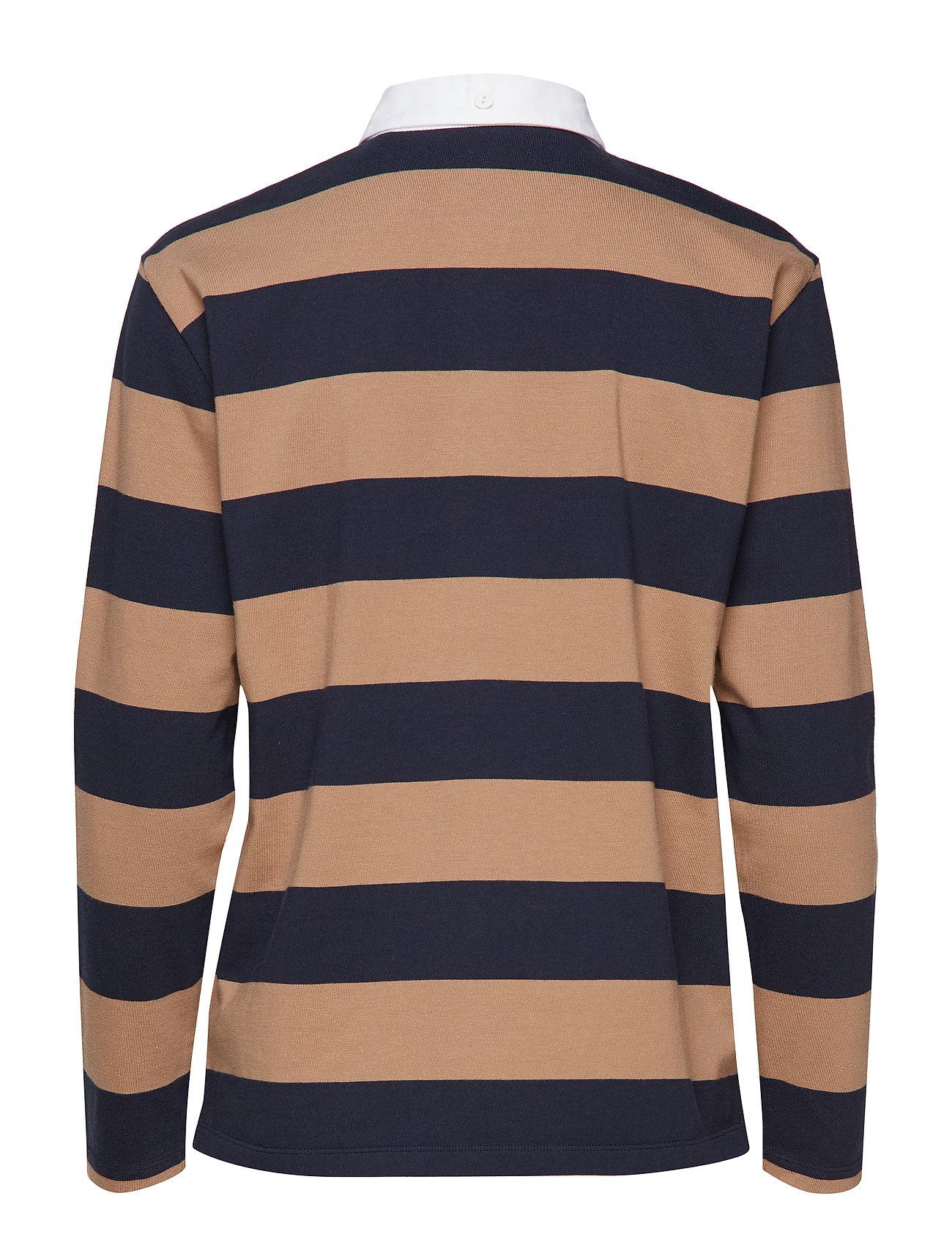 O1Heavy Rugger Ls Stripedwarm Ls KhakiGant Rugger O1Heavy Stripedwarm j354ARLq