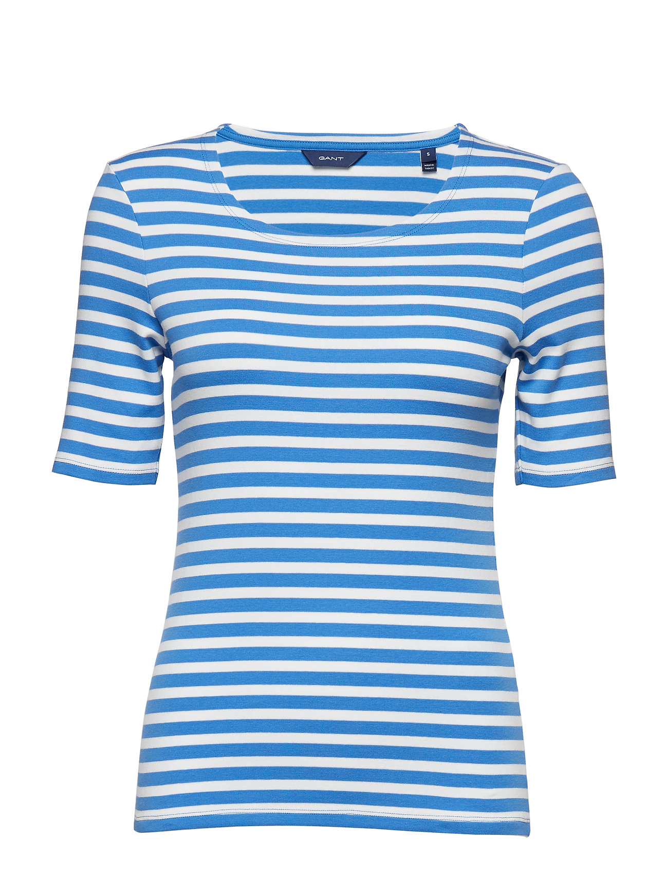 GANT STRIPED 1X1 RIB SS T-SHIRT