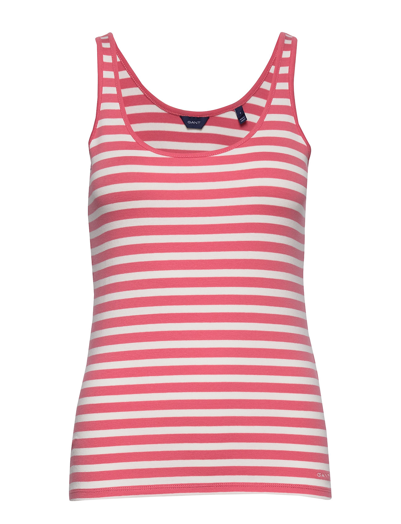 Gant D1. STRIPED 1x1 RIB TANK TOP - RAPTURE ROSE