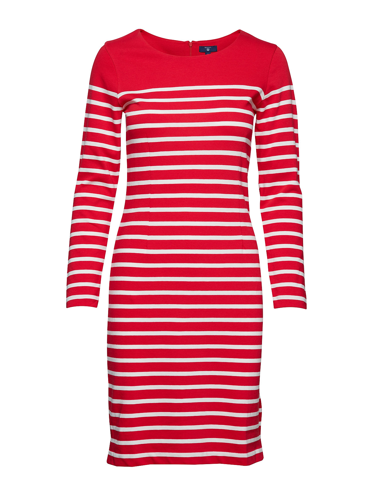 Gant O2. STRIPED SHIFT DRESS - BRIGHT RED