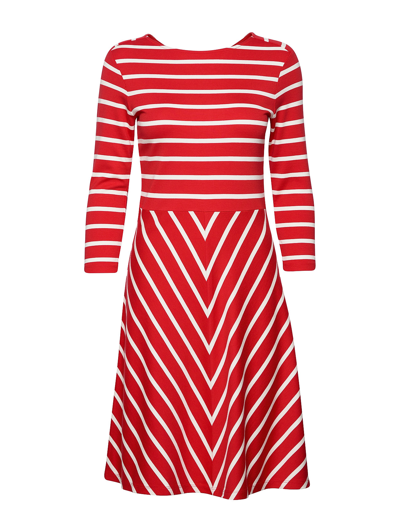 Gant D1. STRIPED DRESS - BRIGHT RED