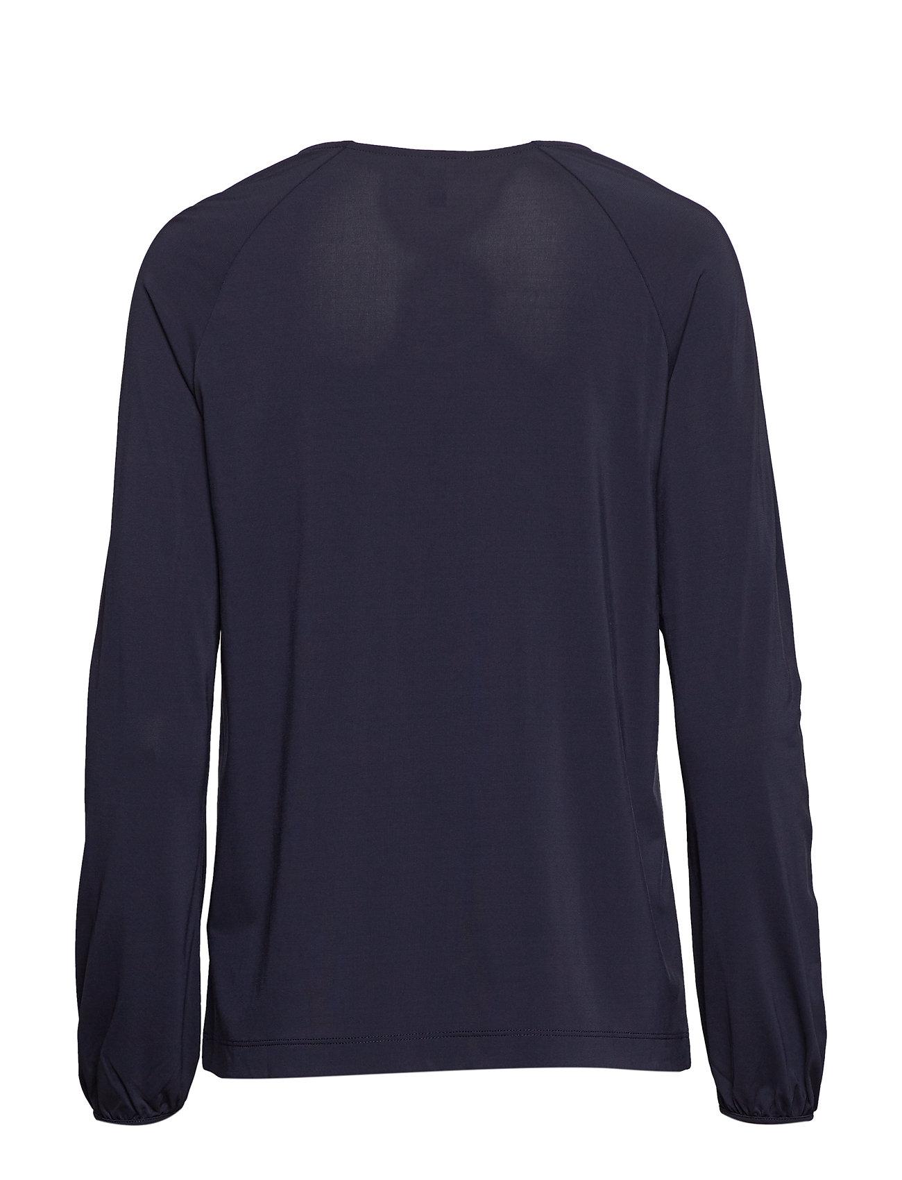 GANT D1. V-Neck Top Langärmliges T-Shirt Blau GANT