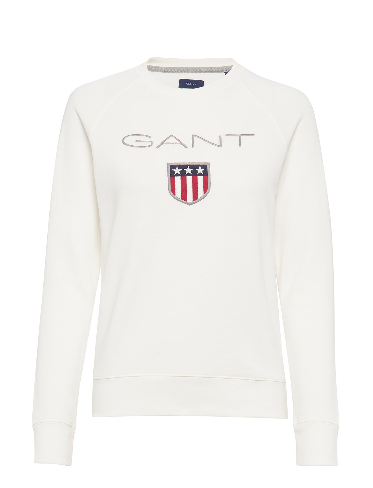 GANT GANT SHIELD LOGO C-NECK SWEAT - EGGSHELL